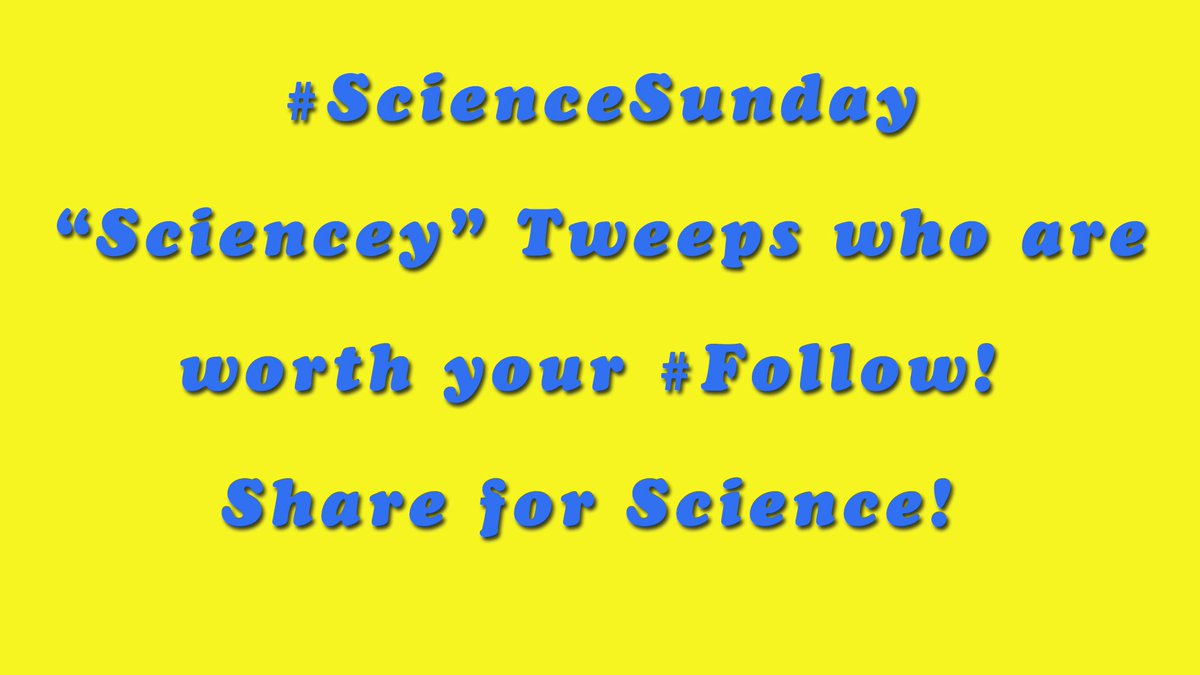 It&#39;s #ScienceSunday!  #Follow these great #Science Tweeps!  @BMSscienceteach @sky_lepidus @AmoebaSisters @PaleoNicole @_Astro_Nerd_ @EvoPhD<br>http://pic.twitter.com/syNSlSmav9