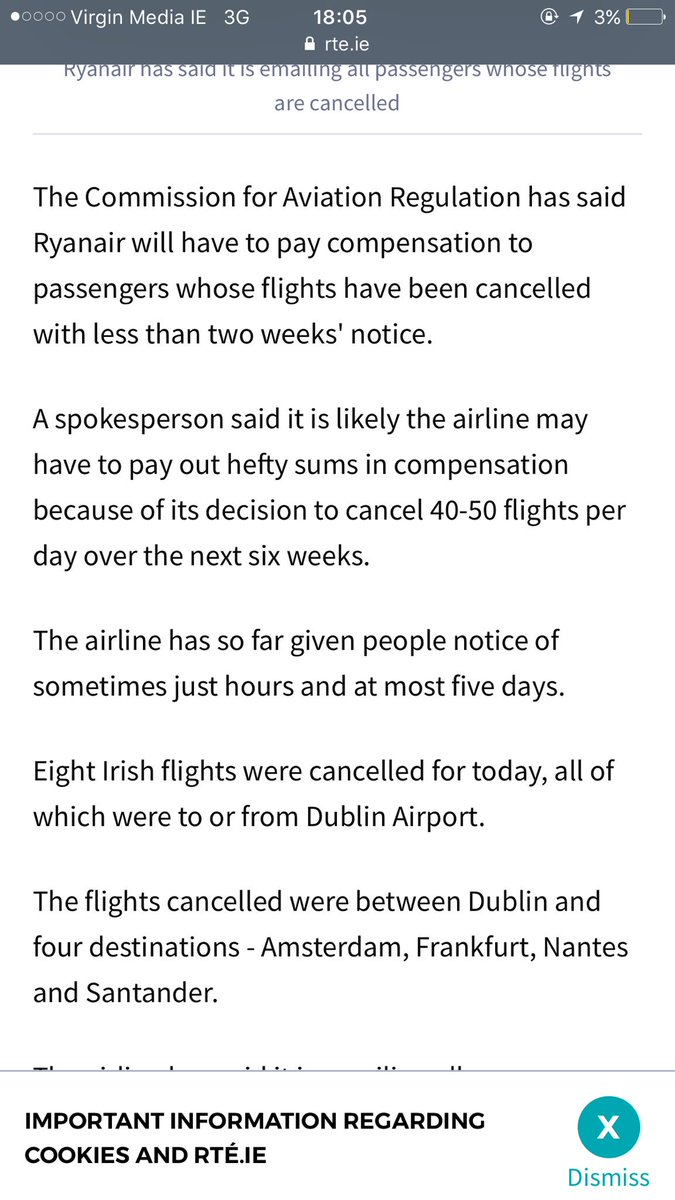 Also, this is going to get expensive for Ryanair. So if you've been cancelled or delayed, look into it https://t.co/XBdGsmymt2
