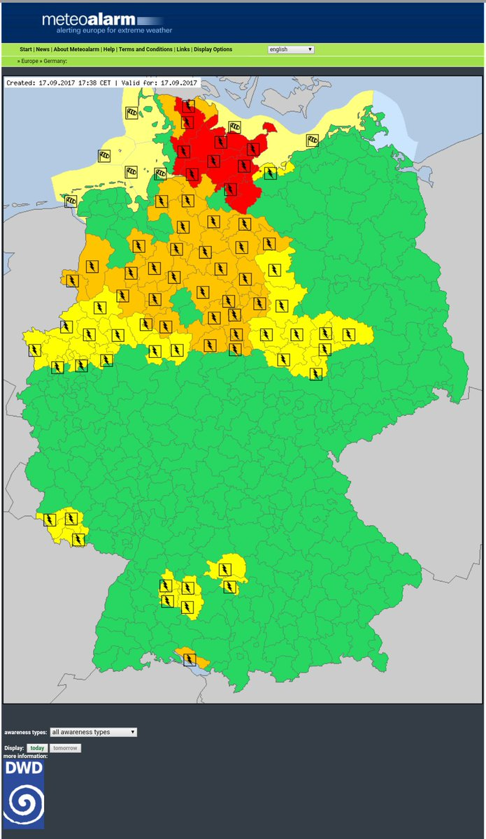 Updated #RedAlert  #Thunderstorms in#Germany #severeweather  #SMEMde #SMEM #RSGE #MSGU <br>http://pic.twitter.com/GWo96TToQd