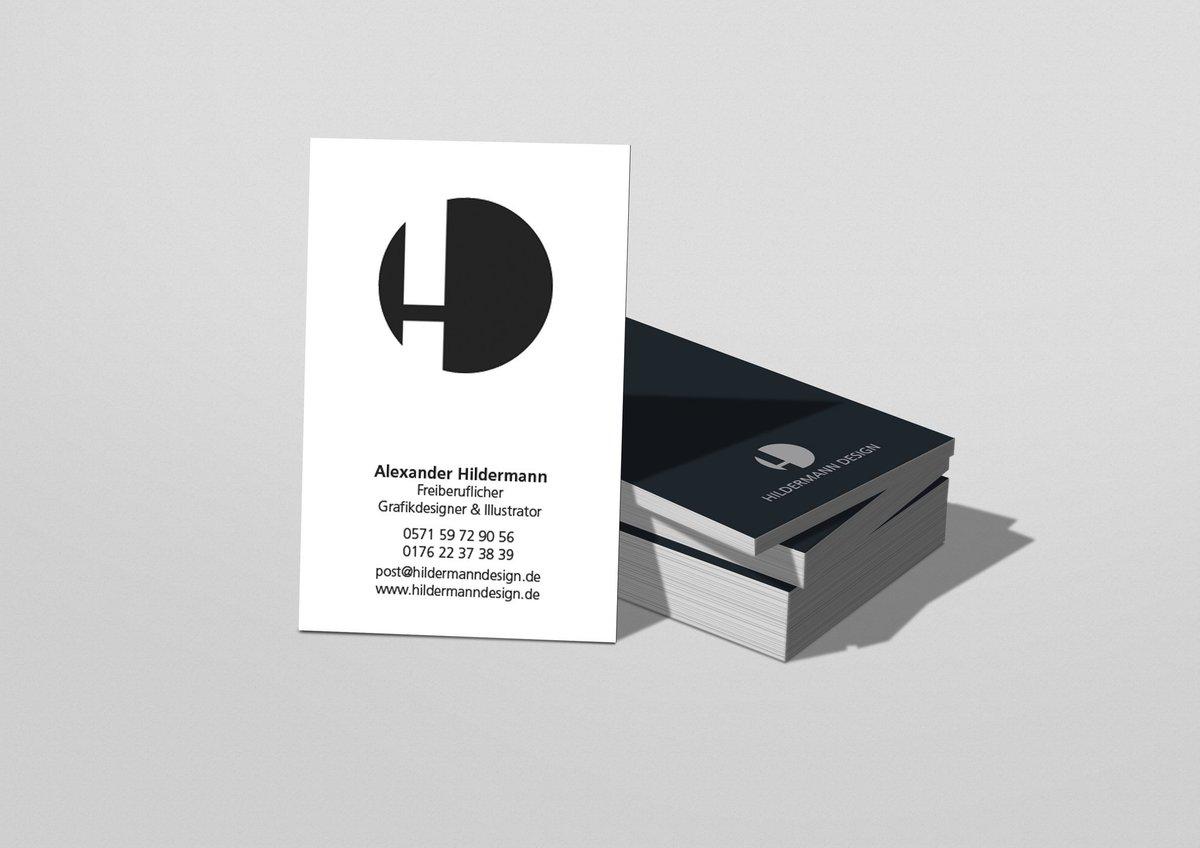 Hildermann Design On Twitter Neue Visitenkarten 85x55 Mm