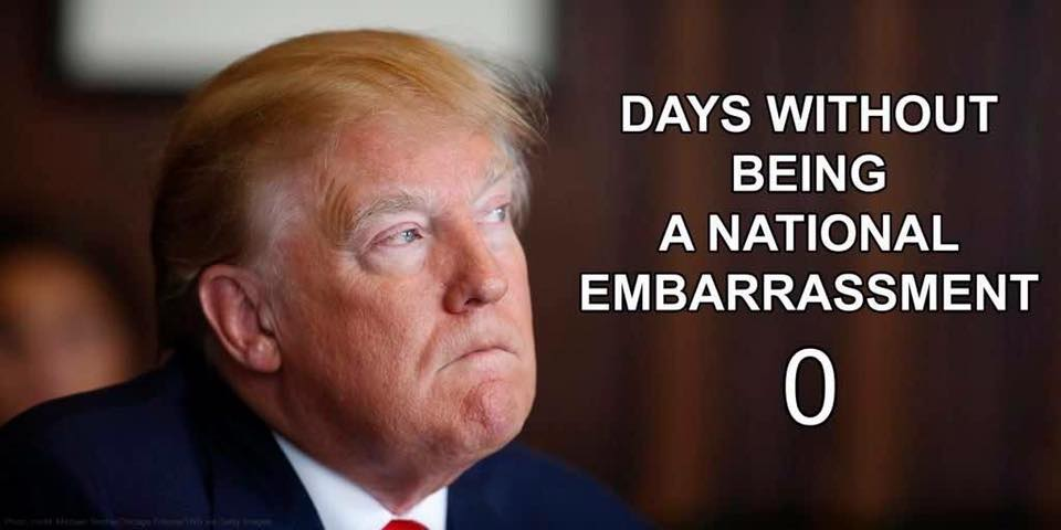 Here&#39;s something you&#39;re good at @realDonaldTrump. Stop embarrassing our country #TrumpRussiaCoverUp <br>http://pic.twitter.com/lpRrkoes36
