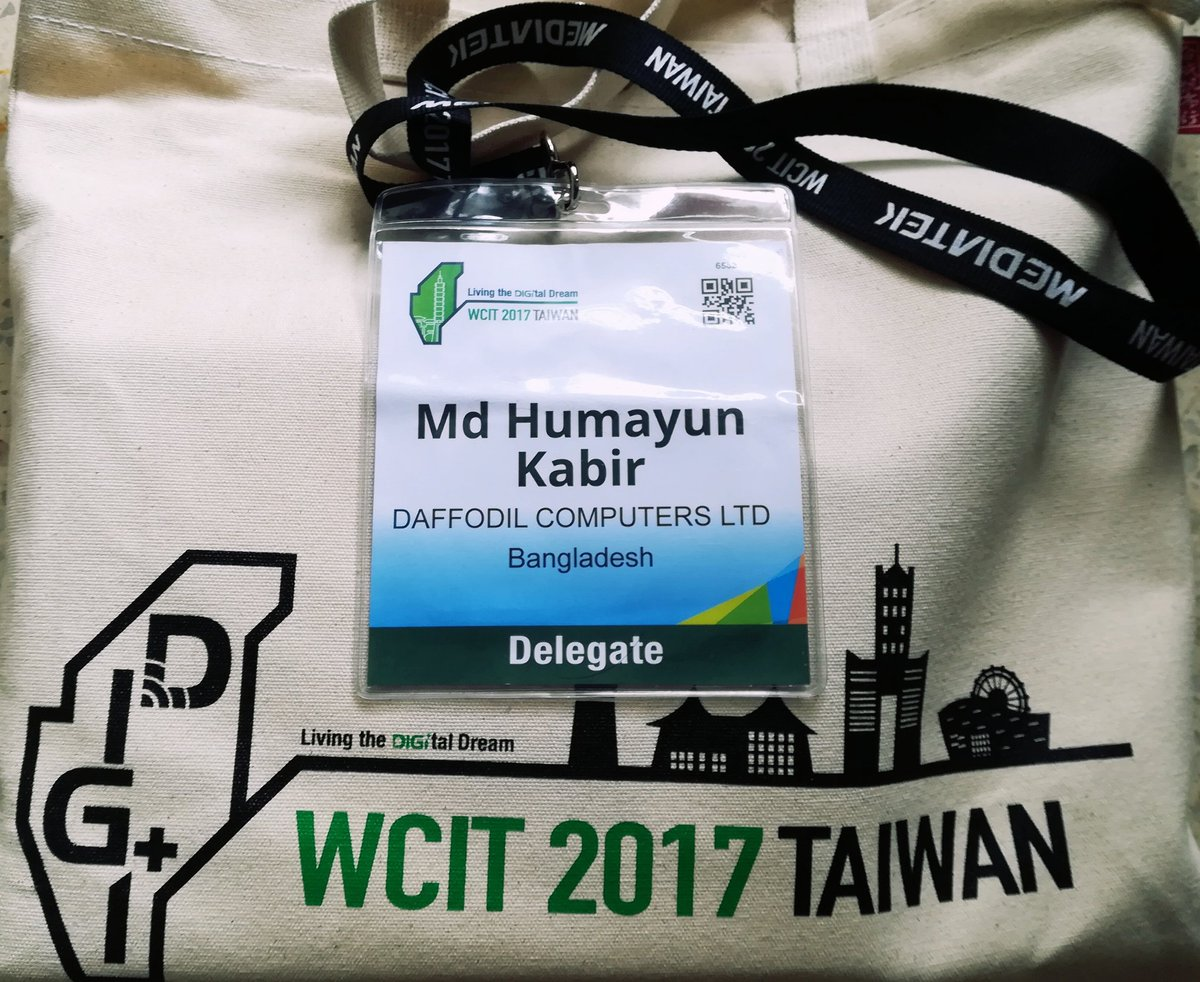 Joined WITSA program in Taiwan from Daffodil Computers Ltd. Where 3,600 delegates from 80 countries was there. #Daffodil #WCIT2017 #Taiwan <br>http://pic.twitter.com/hjYhjNBxB8