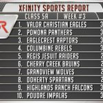 JUST RELEASED - Here is our #XSR Class 5A Football Top 10. #copreps