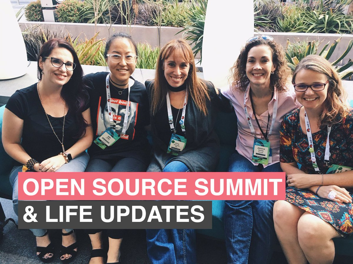 Made a quick video where I talk about my time at #OSSummit &amp; some general life updates     https:// youtu.be/zEXLrdaos2s  &nbsp;  <br>http://pic.twitter.com/A53mZSBw6P