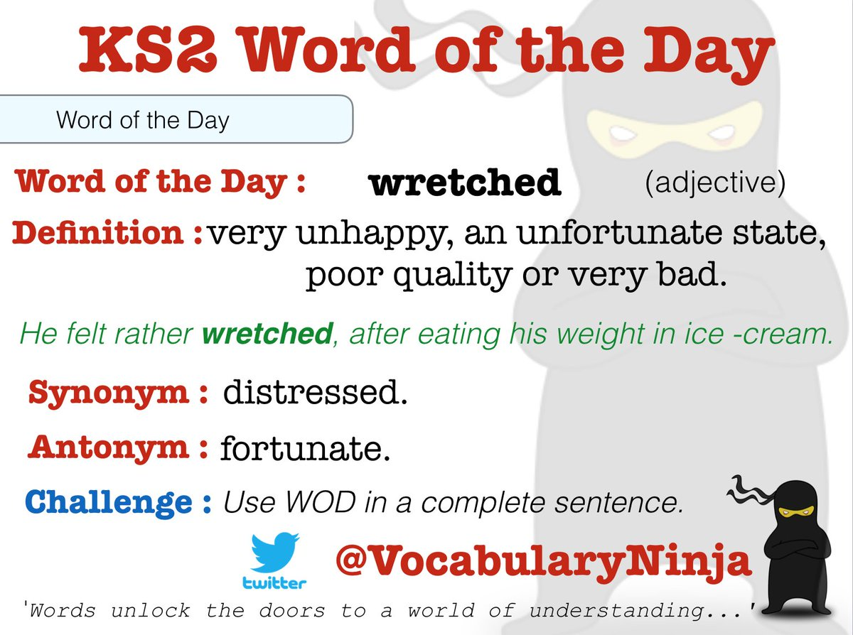 "vocabulary ninja on twitter: ""i'm feeling both risky and wretched"