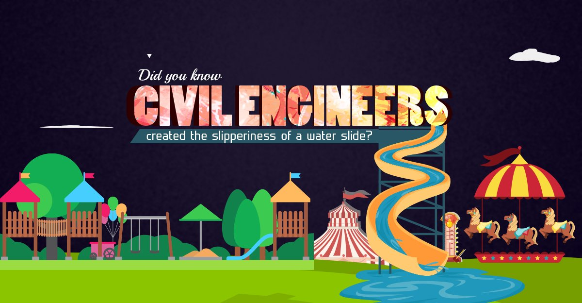 All that fun you had this summer on those water slides? Thank a civil engineer. #Engineering #ScienceSunday <br>http://pic.twitter.com/tHOjMZi33F