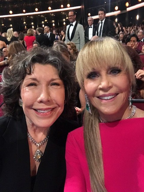 Ultimate #Emmys seat buddy @LilyTomlin https://t.co/FTUFRwlnx0