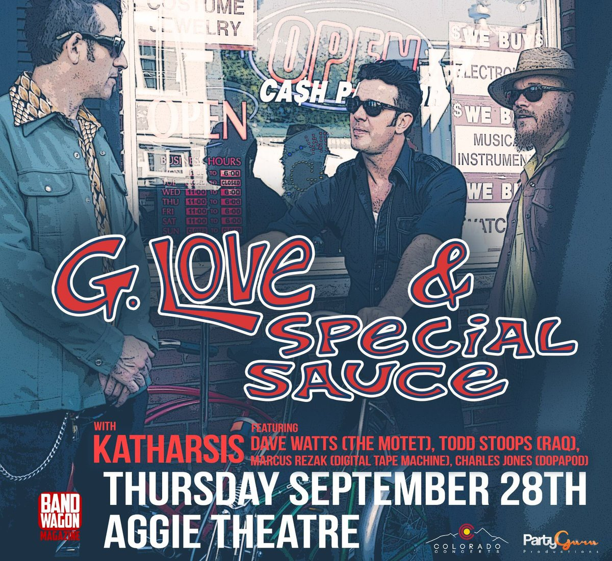 G. Love, Aggie Theatre , PartyGuruProductions and 2 others
