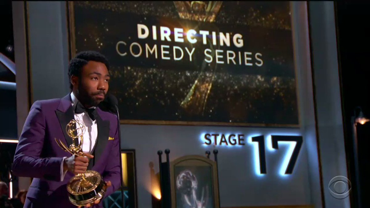 Donald Glover just became the first black person to win Outstanding Comedy Directing #Emmys
