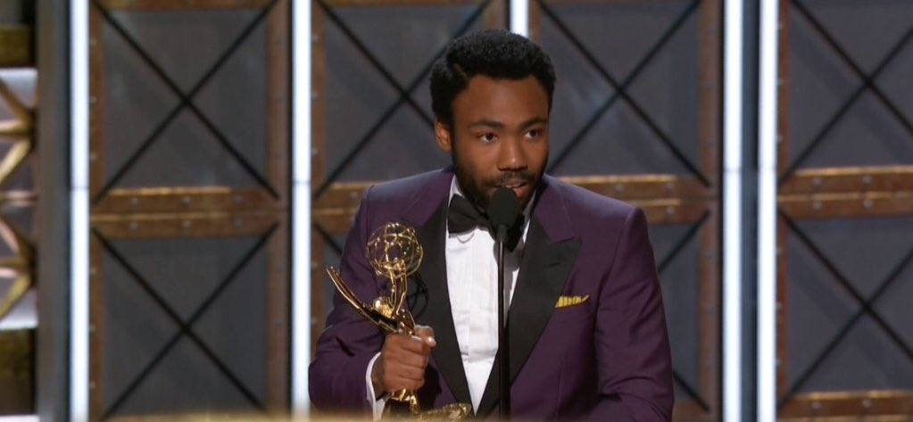 Donald Glover is the FIRST African-American to win the Best Director #Emmy for a Comedy Series.