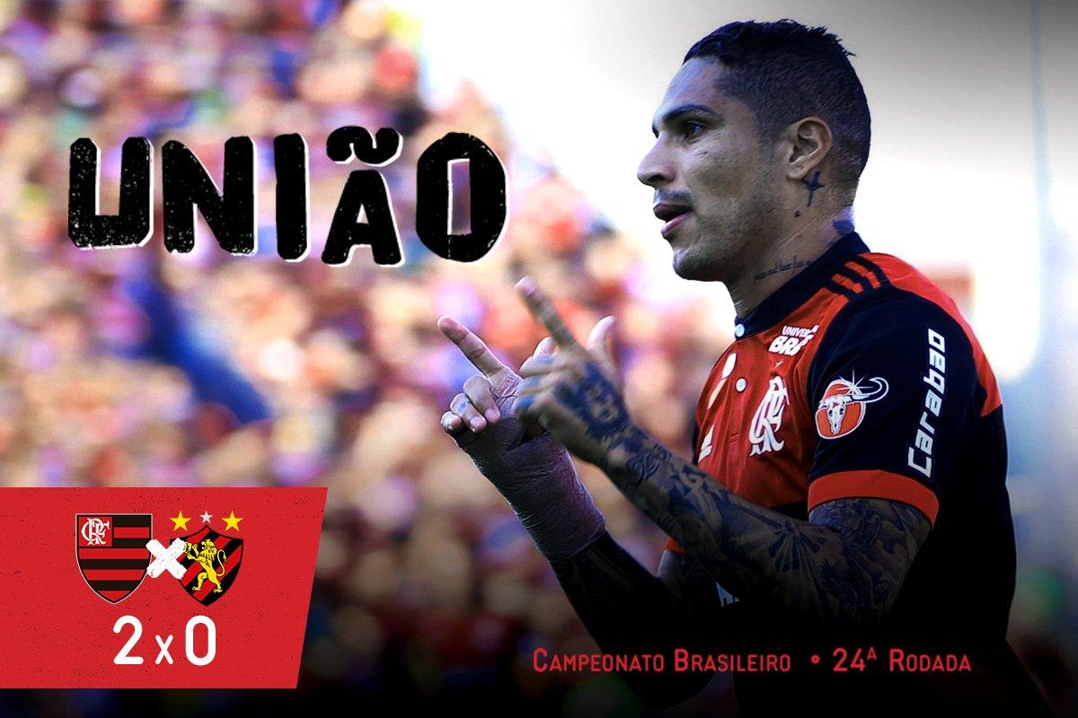 Com apoio irrestrito da Nação, #Flamengo vence o Sport na Ilha do Urubu por 2 a 0 e soma mais três pontos no Brasileirão #União