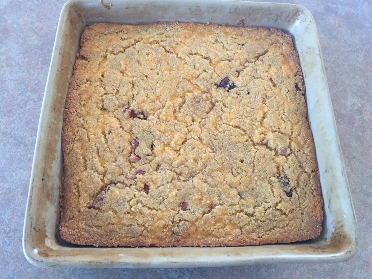 Bacon Cheese Cornbread Made With Barley Flour To Go With Lunch On The Combine Atalbertabarleypic Twitter Com Tuexhvjzpv
