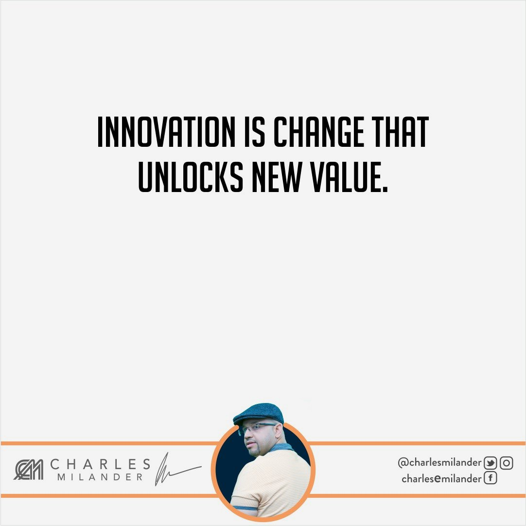 Innovation is change that unlocks new value. #working #founder #startup #money #magazine #moneymaker #startuplife #successful #passion #insp <br>http://pic.twitter.com/HVjHzXgnlG