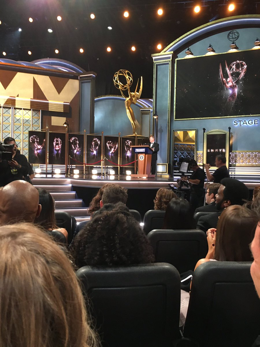 Yep. That just happened  #EMMY2017  #SeanSpicer <br>http://pic.twitter.com/EtWviER5zQ