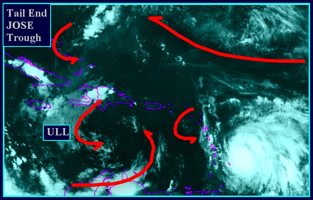 TALKED ABOUT HOW #KATIA #IRMA #JOSE INTERACTED W/1 ANOTHER #MARIA APPEARS HEADED FOR TAIL END #JOSE TROUGH HOW SHE GETS THERE ANOTHER ?<br>http://pic.twitter.com/jPqscw3TJR
