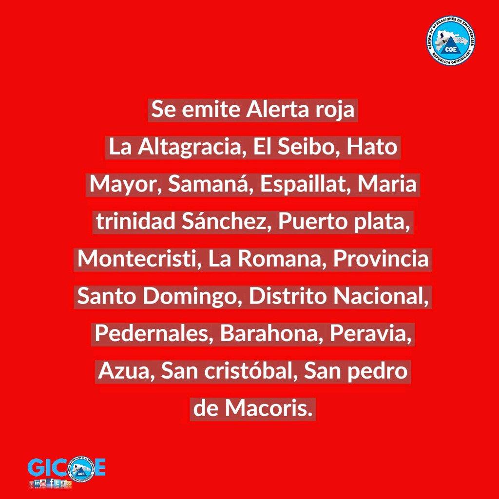 Se declara nivel de alerta roja para las provincias: https://t.co/WR0aBfVYhw