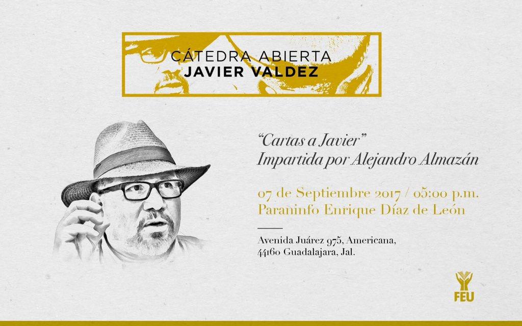 A la memoria de Javier y de decenas de periodistas más, fundamos la Cátedra Abierta Javier Valdez  ¡Que sus plumas nunca dejen de escribir! https://t.co/LTxYgPiKYl