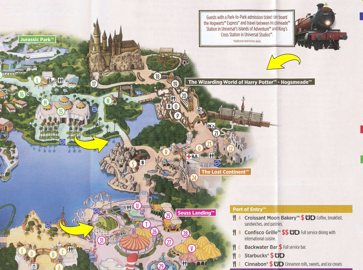 bioreconstruct on twitter  changes made to the printed islands  - bioreconstruct on twitter  changes made to the printed islands ofadventure park map dragon challenge dropped bypass bridge added andgreen eggsham