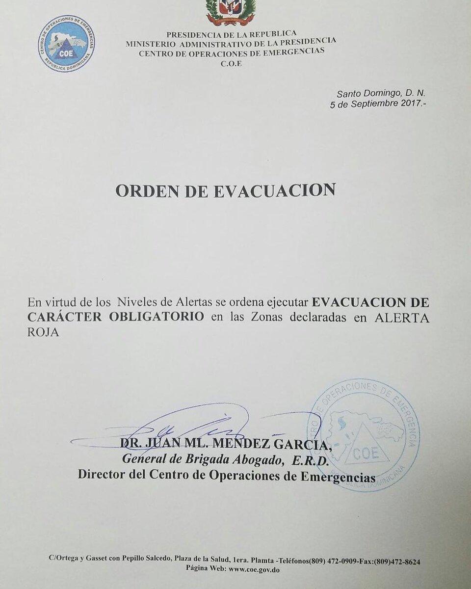 Atención al llamado de evacuación. #HuracanIrma https://t.co/vncHB46z6A