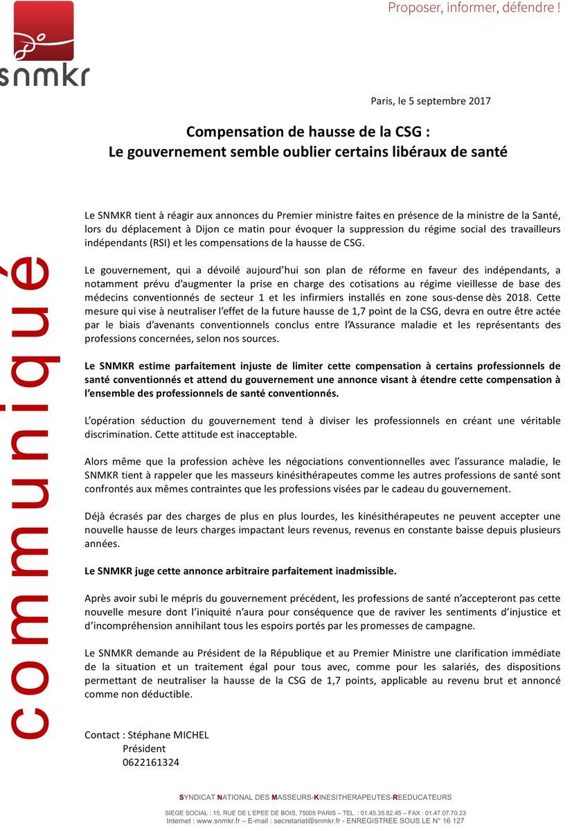 Snmkr On Twitter Compensation De Hausse De La Csg Le