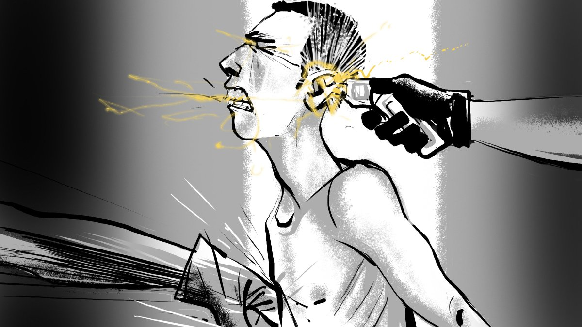 4. Torture often begins with electrocutions. They shock your head, armpits, even genitals