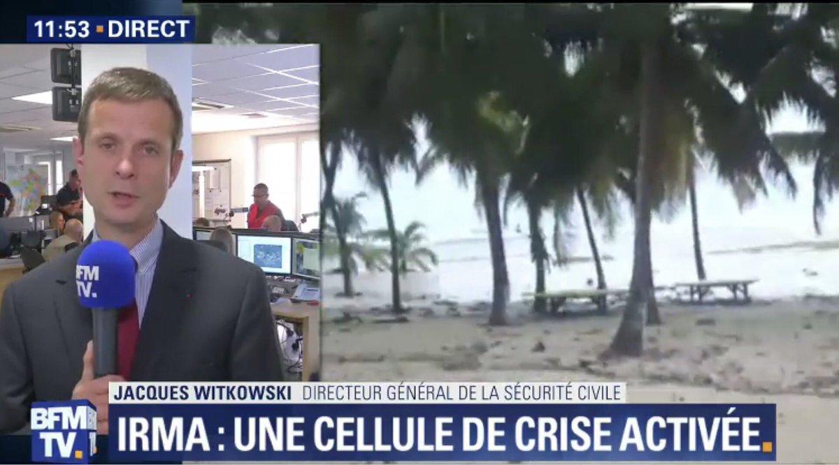 #Irma #Ouragan Jacques WITKOWSKI Directeur @SecCivileFrance sur @BFMTV  #GesCrise <br>http://pic.twitter.com/7nZjDkBwvq