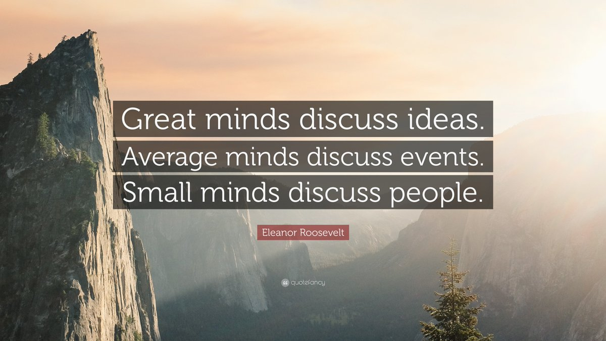 #GreatMinds https://t.co/fRwGUI7rvk