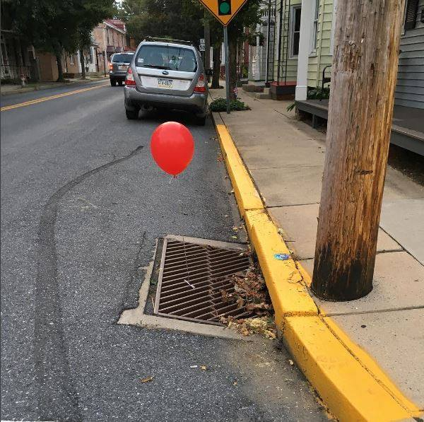 PA police department asks 'local prankster' to stop tying red 'It' balloons to sewer grates https://t.co/fKecOVrddZ via