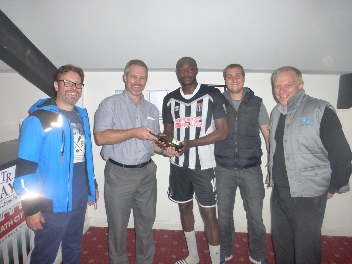 test Twitter Media - Total Bathrooms proudly presented the man of the match award to @BathCity_FC Marvin Morgan for his performance vs Oxford City last night! https://t.co/vQNsUfSxv1