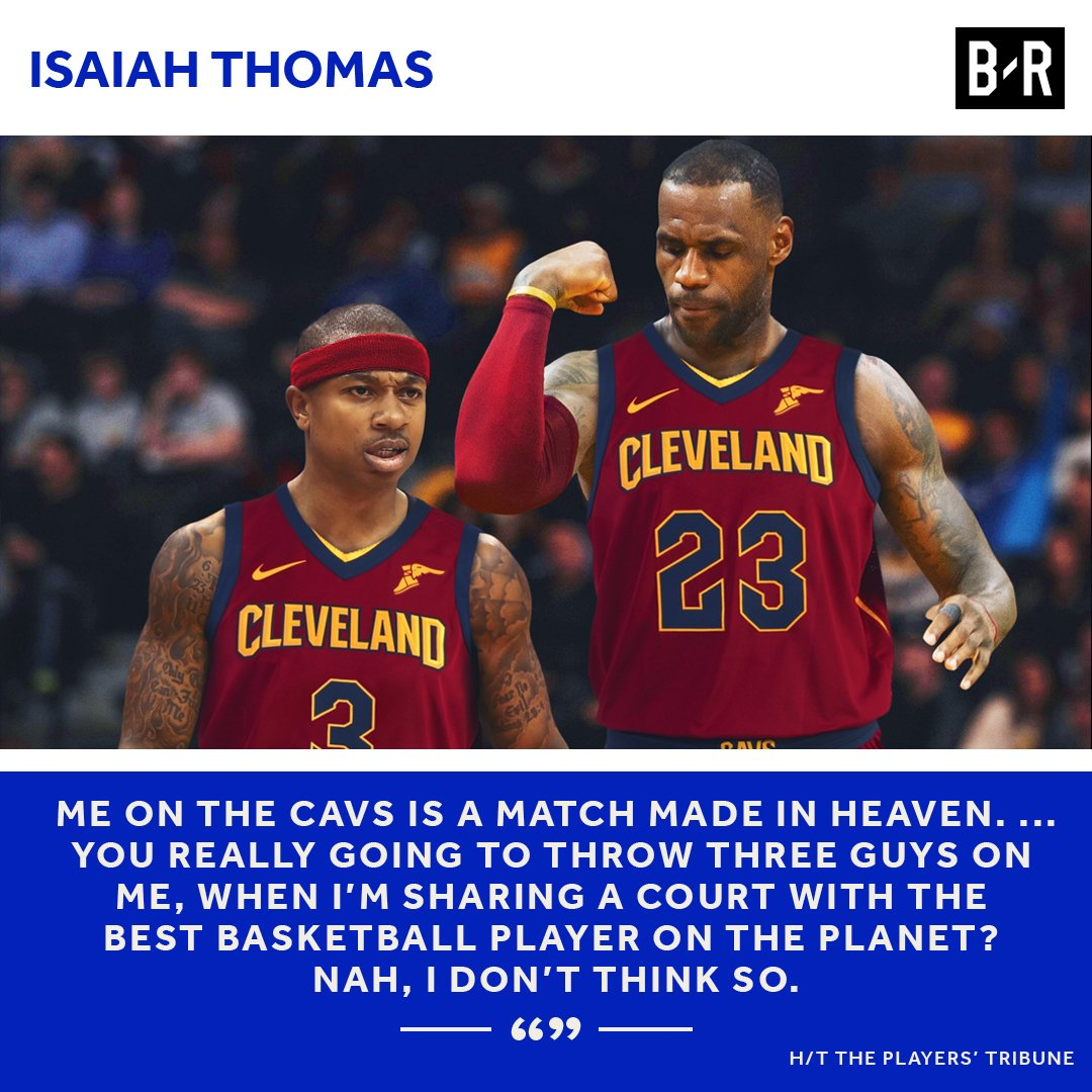 Isaiah Thomas is ready to ball in Cleveland.