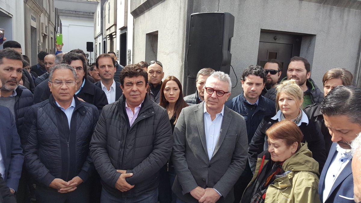 Intendentes, Espinoza, Parrilli y Wado de Pedro homenajearon a Antonio Cafiero