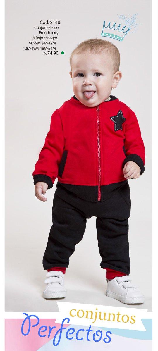 ¡Nuestro pequeño #Rey! Luce con un cómodo y abrigador conjunto de buzo rojo. Dale ese toque #divertido a nuestro engreido. #BabyModa pic.twitter.com/MFBD7Yswf5