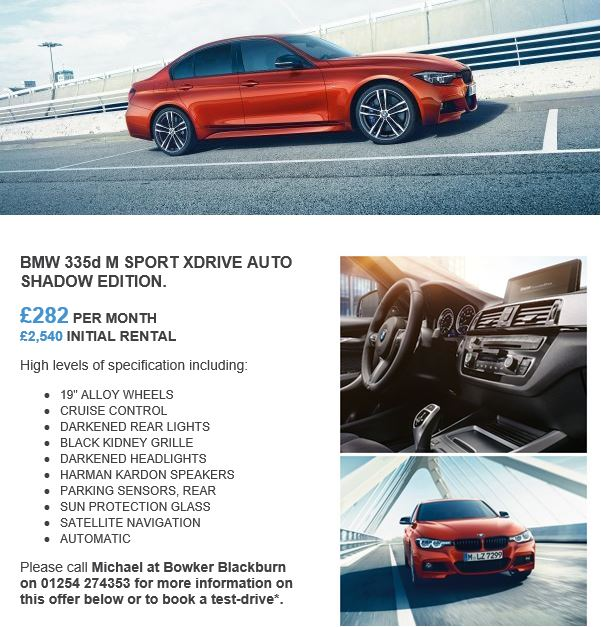 Bowker BMW on Twitter BMW 335d M SPORT XDRIVE AUTO SHADOW