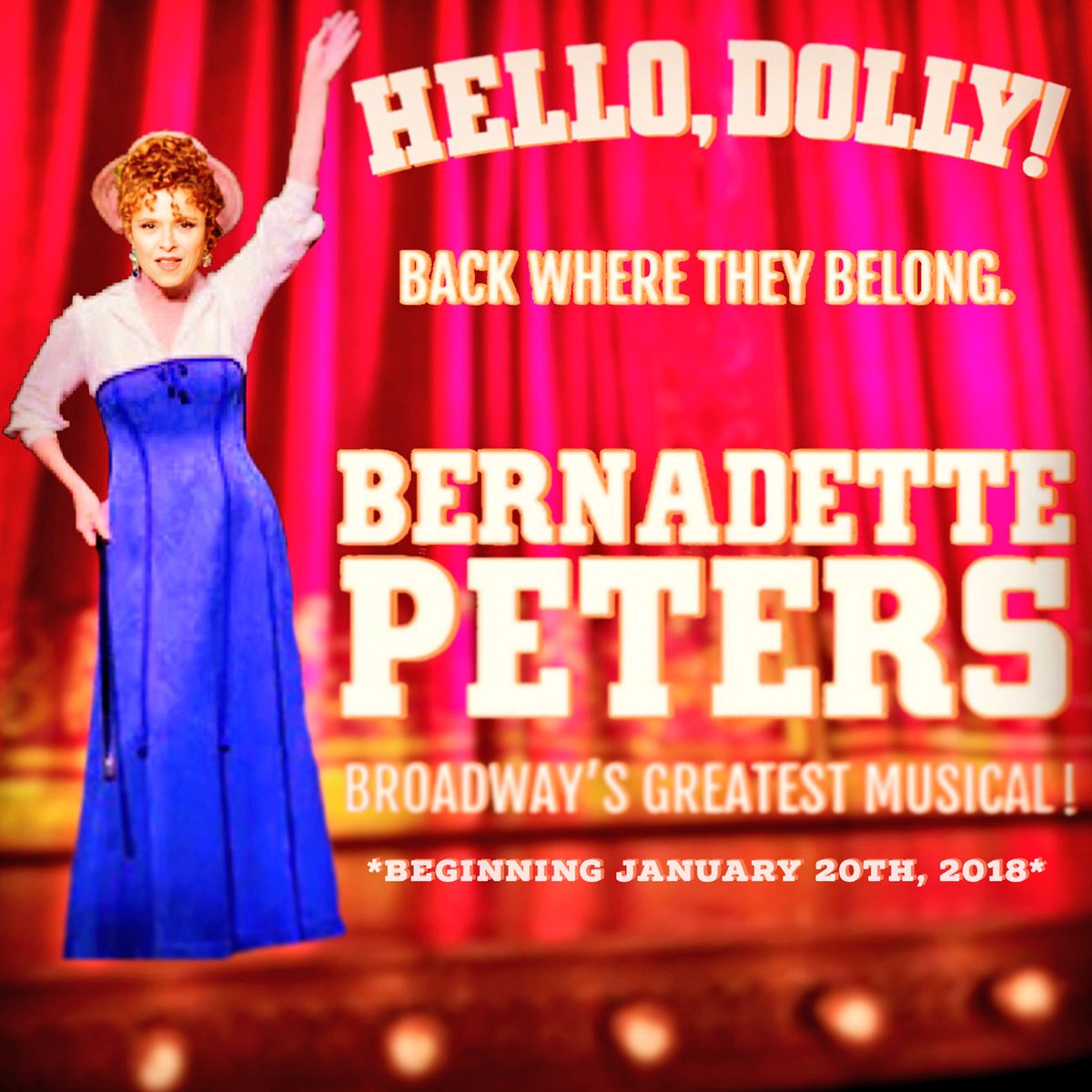 Official Bernadette Peters in Hello, Dolly! performances thread
