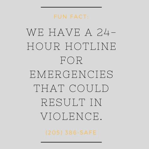 Violence hotline