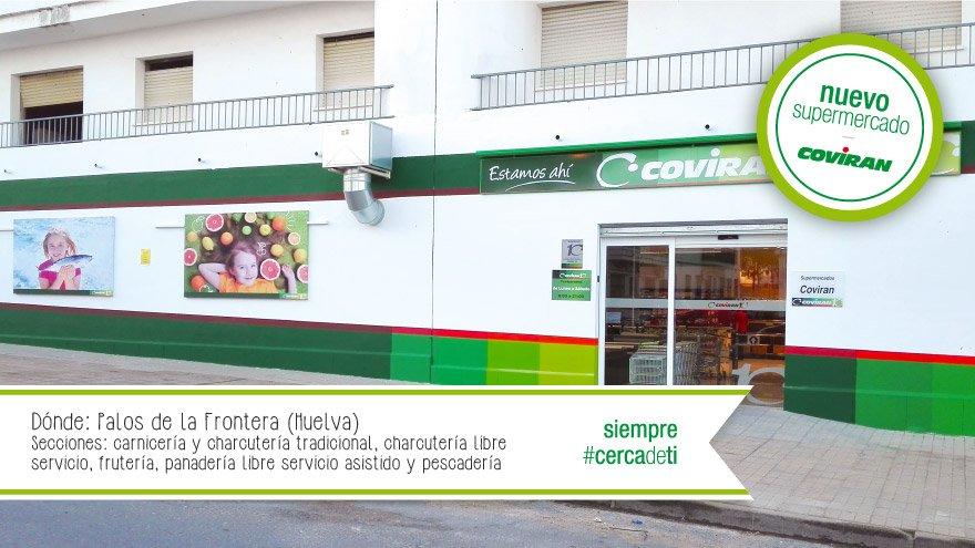 Resultado de imagen de supermercado Coviran en Palos de la Frontera (Huelva)