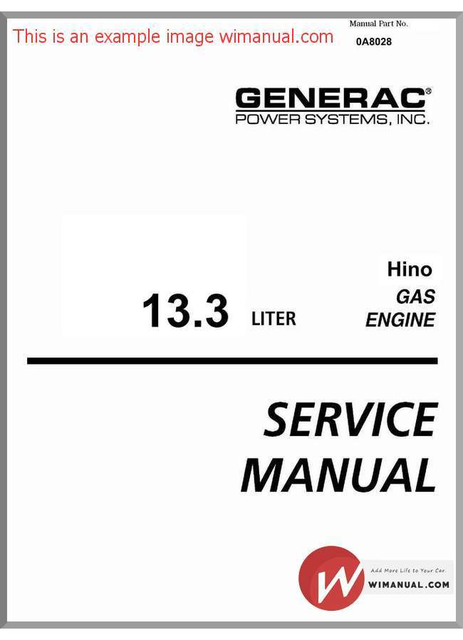 Hino engine service manual