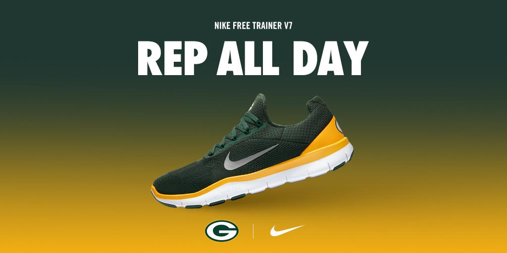 d9748bdad8d37 gopackgo the nike free trainer v7 green bay packers edition is now available