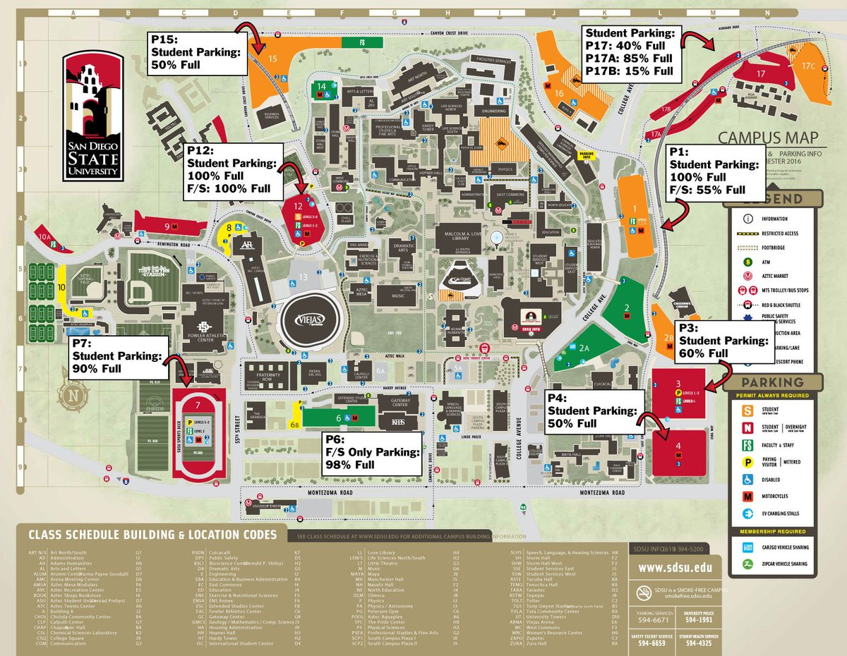 Amc Campus Map.Parking Services On Twitter Final Update For 9 6 Parking