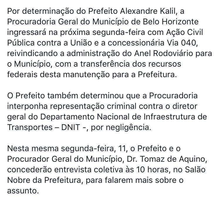 Nota oficial da Prefeitura sobre mais um assassinato no Anel Rodoviário: https://t.co/mJdrSCyL61