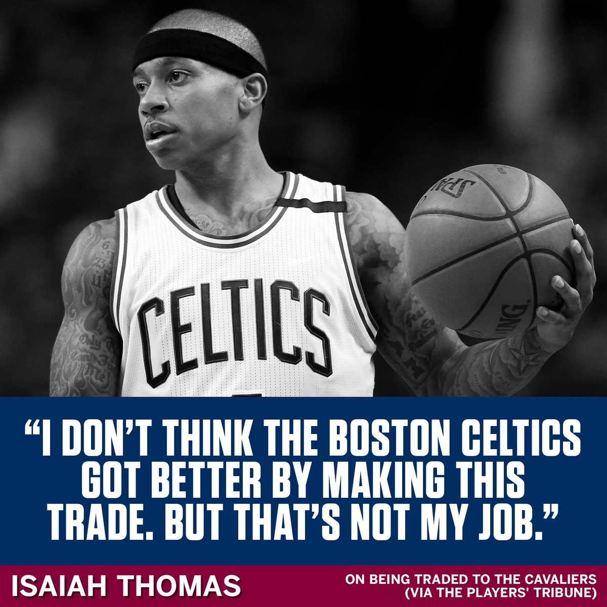 Isaiah Thomas shares his thoughts on the trade: