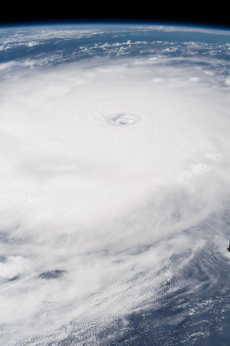The eye of Hurricane Irma is clearly visible from the space station as it orbited over the Category 5 storm on Sept. 5, 2017.