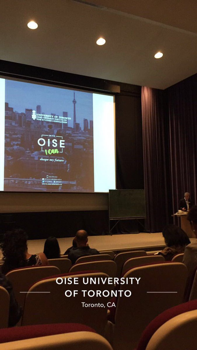 Excited to return to @OISEUofT - thank you for the warm welcome, alumni association. #OISEBacktoSchool #oiseuoft