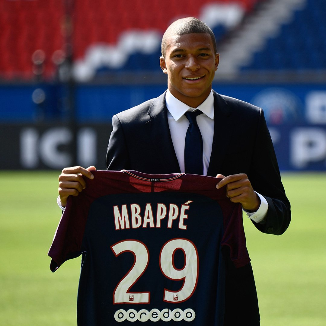 online retailer 799a6 71cf2 Get used to seeing Kylian Mbappe with this PSG kit ...