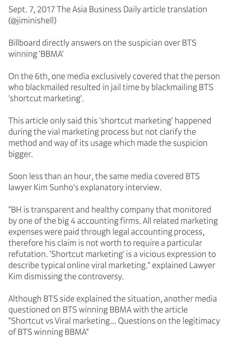 Asia Business Daily: Billboard directly answers suspicion over BTS