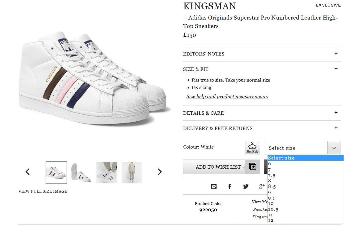 adidas superstar kingsman