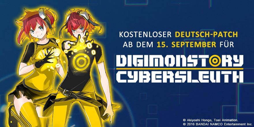 Digimon Story Cyber Sleuth Deutsch-Patch Ankündigung