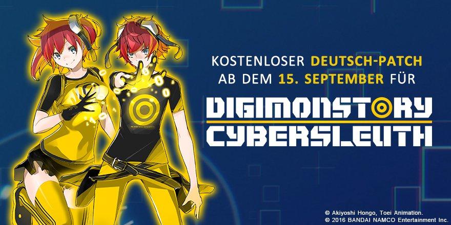 Digimon Story Cyber Sleuth Deutsch-Patch Ankündigung