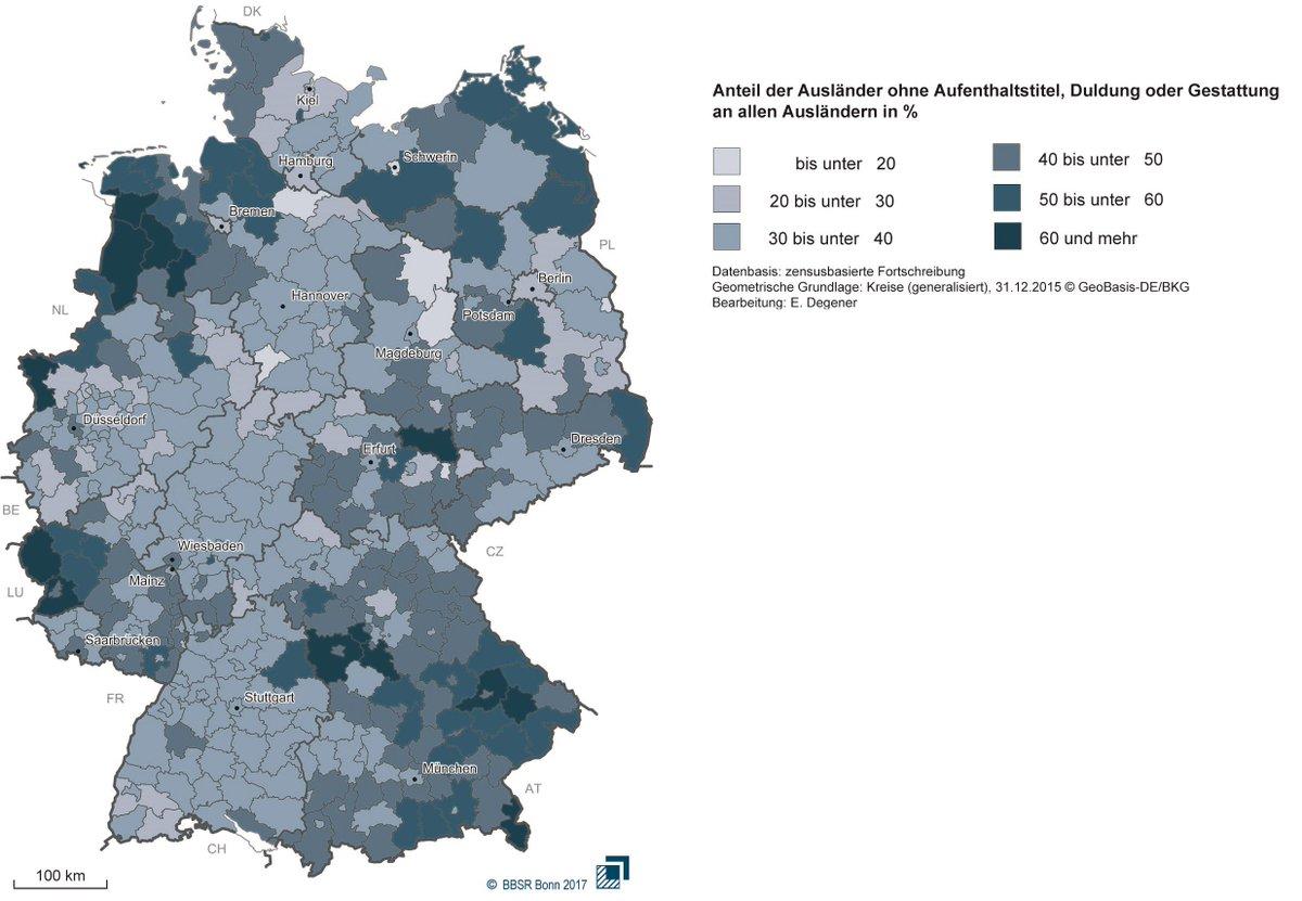 """BBSR on Twitter: """"So hoch ist der Anteil der #Ausländer in ... - Bonn Karte Deutschland"""