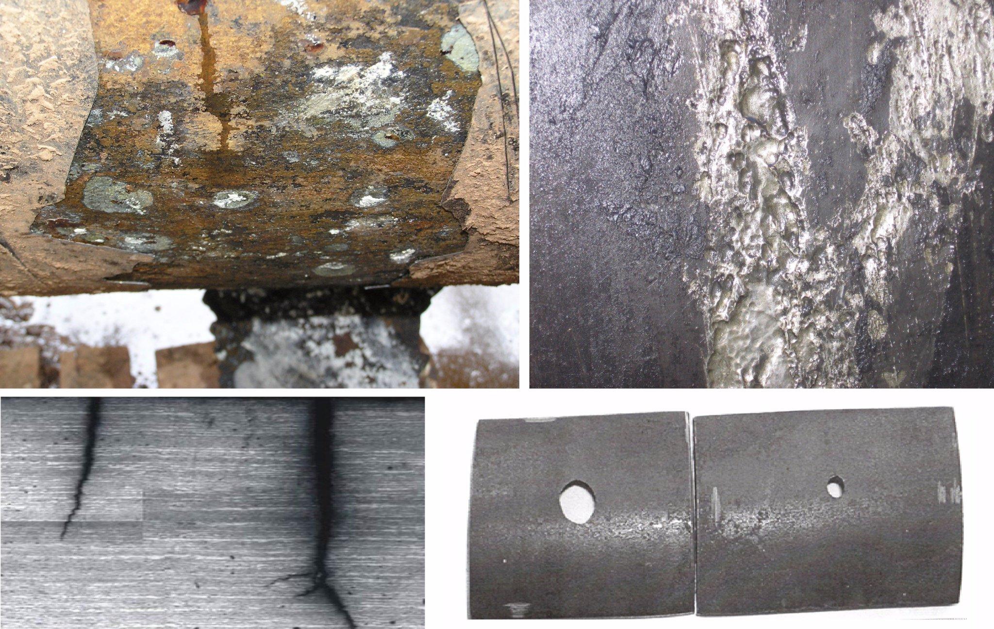 следы коррозии на металле